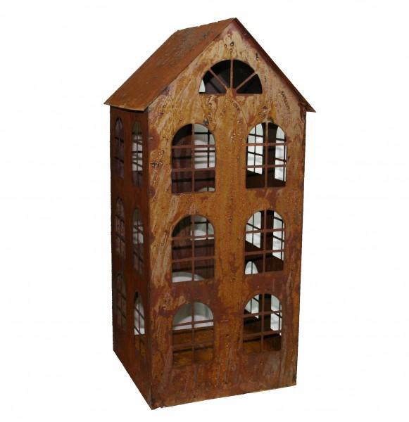 Windlicht Haus Edelrost 70 cm