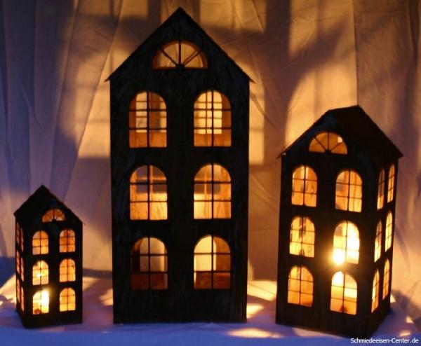 Windlicht Haus Edelrost 50 cm