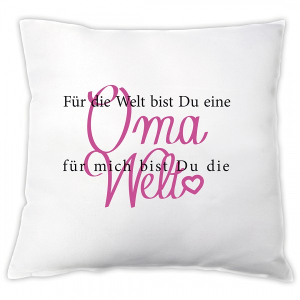 """Kissen """"Für mich bist du die Welt"""" - Oma"""