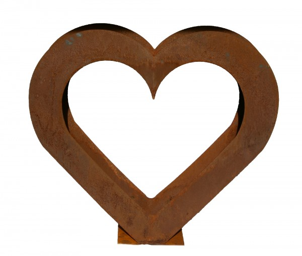 Herz Holzregal Edelrost groß